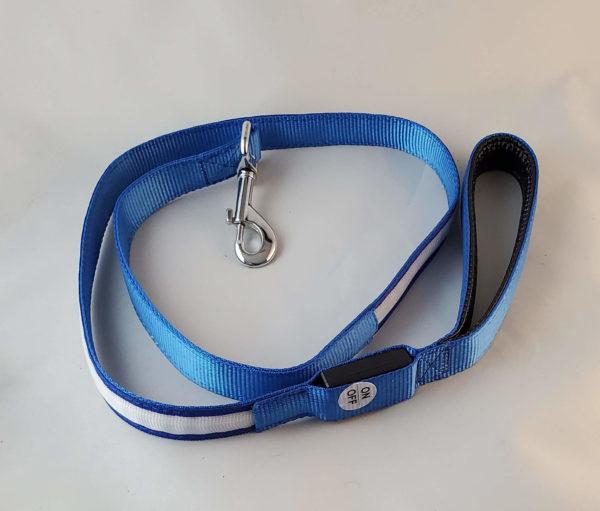 Blue High visibility LED Dog LEash
